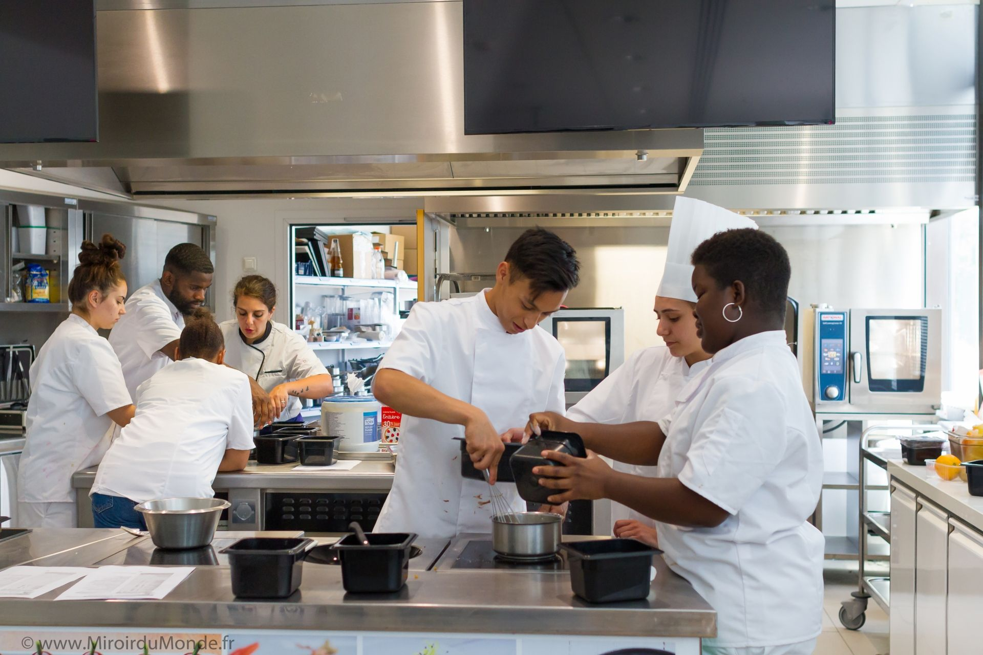 team of chefs working